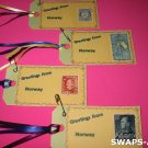 Mini Greetings From Norway Stamps Thinking Day SWAPS Kit for Girl Kids Scout makes 25