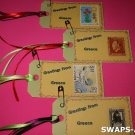Mini Greetings From Greece Stamps Thinking Day SWAPS Kit for Girl Kids Scout makes 25