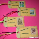 Mini Greetings From Switzerland Stamps Thinking Day SWAPS Kit for Girl Kids Scout makes 25