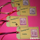 Mini Greetings From Austria Stamps Thinking Day SWAPS Kit for Girl Kids Scout makes 25