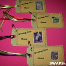 Mini Greetings From Ghana Stamps Thinking Day SWAPS Kit for Girl Kids Scout makes 25