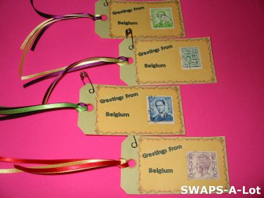 Mini Greetings From Belgium Stamps Thinking Day SWAPS Kit for Girl Kids Scout makes 25