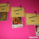 Mini Greetings From Israel Bagged Stamps Thinking Day SWAPS Kit for Girl Kids Scout makes 25