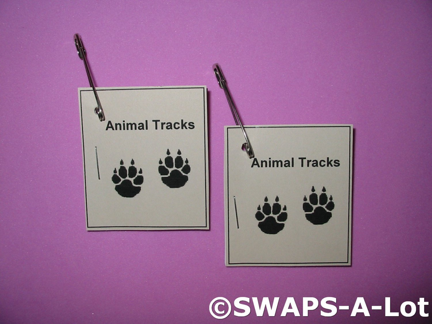 Mini Animal Tracks Booklet SWAPS Kit for Girl Kids Scout makes 25