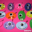 Mini Alien Halloween Monster SWAPS Kit for Girl Kids Scout makes 25