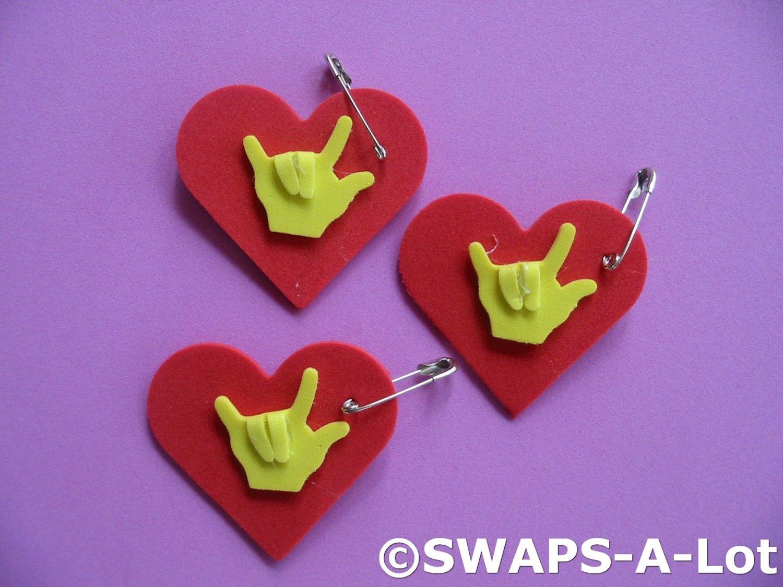 Mini Heart I Love You Sign Language SWAPS Kit for Girl ...