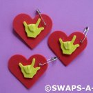 Mini Heart I Love You Sign Language SWAPS Kit for Girl Kids Scout makes 25