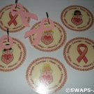 Mini Ribbons of Hope SWAPS Kit for Girl Kids Scout makes 25