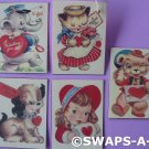 Valentine's Trade Cards Laminated SWAPS Craft Kit for Girl Kids Scout makes 25