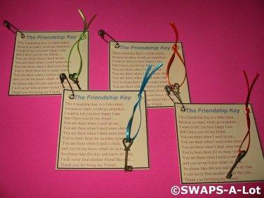 Mini Friendship Key SWAPS Kit for Girl Kids Scout makes 25