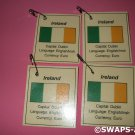 Mini Ireland: Flag, Capital Thinking Day Girl Scout SWAPS Kids Craft Kit makes 25