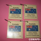 Mini Australia: Flag, Capital Thinking Day Girl Scout SWAPS Kids Craft Kit makes 25