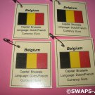 Mini Belgium: Flag, Capital Thinking Day Girl Scout SWAPS Kids Craft Kit makes 25