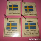 Mini Sweden: Flag, Capital Thinking Day SWAPS Kit for Girl Kids Scout makes 25