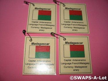 Mini Madagascar: Flag, Capital Thinking Day Girl Scout SWAPS Kids Craft Kit makes 25