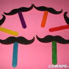 Mini Emergency Mustache Disguise on a Handle SWAPS Kit for Girl Kids Scout makes 25