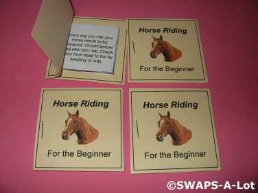 Mini Horse Riding For The Beginner Booklet Girl Scout SWAPS Kids Craft Kit makes 25