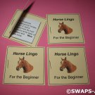 Mini Horse Lingo For The Beginner Booklet Girl Scout SWAPS Kids Craft Kit makes 25