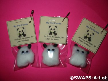 Mini My Pet Panda Bear Girl Scout SWAPS Kids Craft Kit makes 25