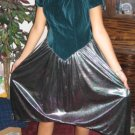 GREEN METALLIC Party Dress MERMAID punk new wave 80s SM