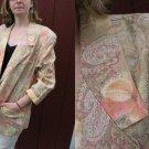~ Vtg 80s Golden BOYFRIEND BLaZeR Jacket FLoral SML