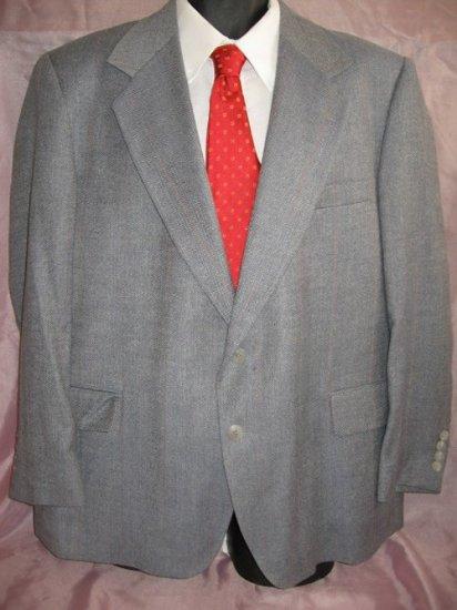 Vintage Blue LACROSSE WOOL Blazer sportcoat 44S 44