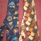 lot of 2 cravat ONE OF A TIE bow necktie USA cotton new