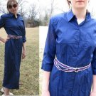 TALBOTS Long Summer SHIRT DRESS Buttons BLUE NWT NEW 8