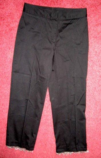 ~ Worthington Capri pants BLaCK STReTCH BEADs sz  6
