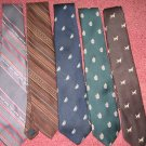 STRAWBRIDGE lot of 5 cravat TIE bow necktie