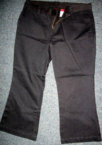LIQUID X jeans LOW rise BLaCK CAPRI cropped 3