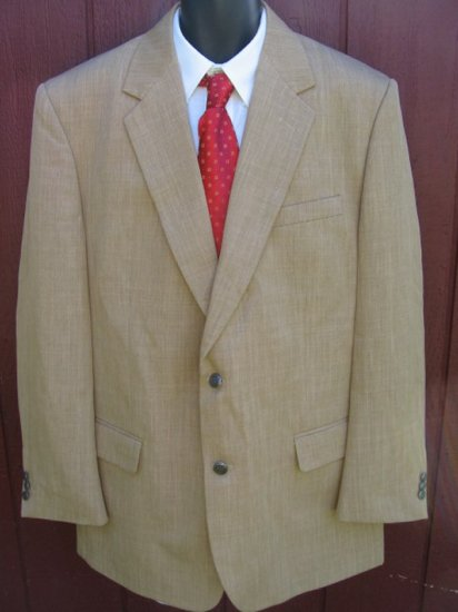 HABAND EXECUTIVE BLAZER sport coat jacket 46L 46 Tan SEXY!!