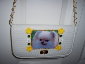 DIY Pomeranian Handbag Purse Clutch Pocketbook OOAK