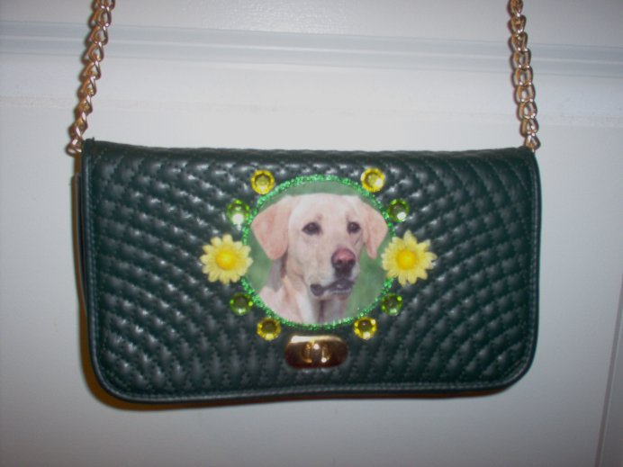 DIY Yellow Lab Handbag Purse Clutch Pocketbook OOAK