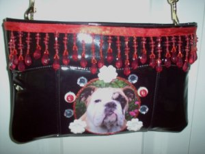 DIY Bulldog Handbag Purse Clutch Pocketbook OOAK