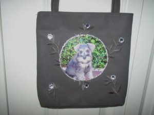 DIY Miniature Schnauzer Handbag Purse Clutch OOAK
