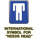 International Symbol for Needs Head- Medium