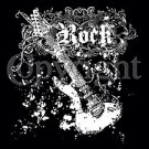 Goth Fuitar ~ Rock White Ink -  Large