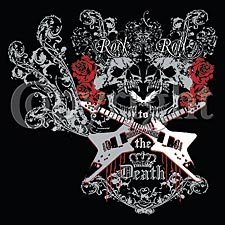 Rock N Roll To The Death ~ Skulls -  Large