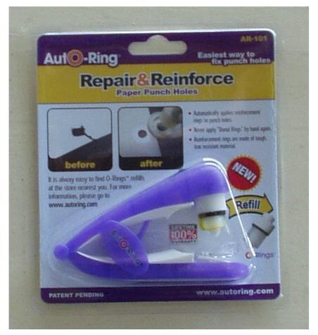 School Supplies Binder Hole Reinforcer AutO-Ring Purple