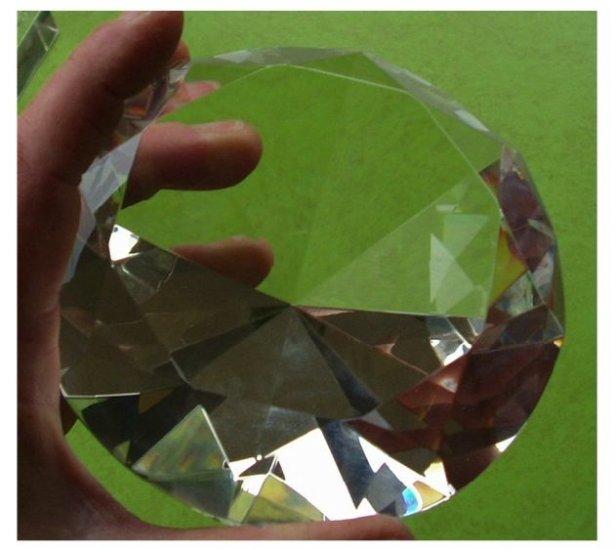 120 MM Cut Crystal 3000 + Kts Chaton Diamond Healing