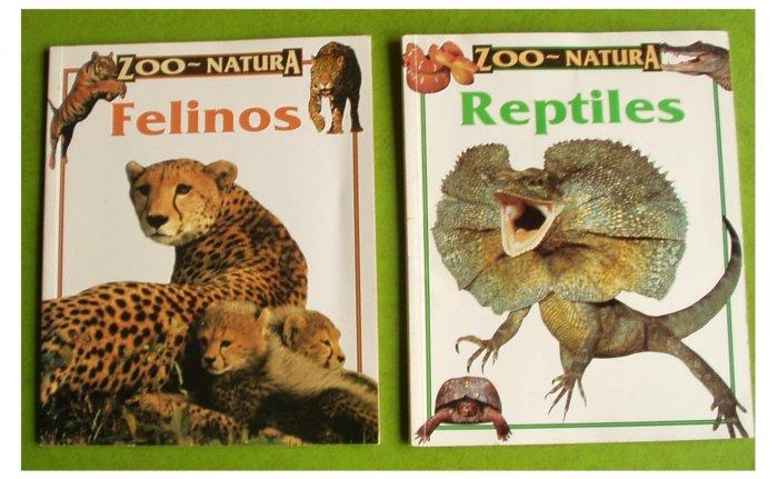 2 ZOO-NATURA Books Felinos Reptiles pb Español