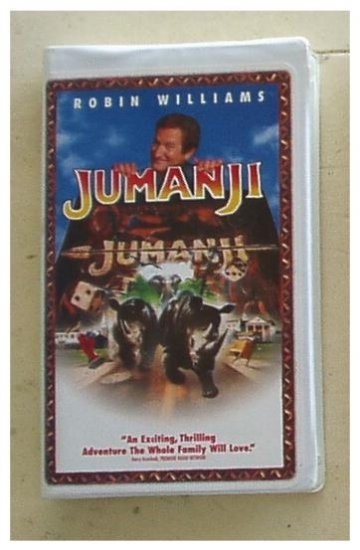 JUMANJI Movie Robin Williams VHS