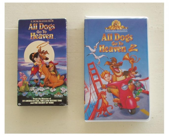 All Dogs Go to Heaven i & ii ~ 2 VHS Movies