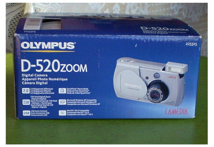 Olympus Digital D520 Zoom Camera  Model D-520