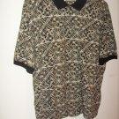 Mens IMPRINTS Black/Brown print short sleeve shirt (XL)