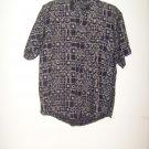 Boys Expressions navy blue short sleeve dress shirt M (5-6)