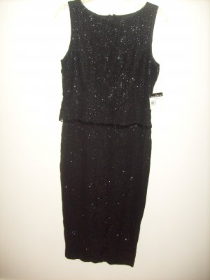 Womans TEDDI EVENING Black Dress (10)