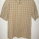 Mens  IZOD Jeans ,Green and Brown plaid shirt (S)