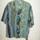Womans JM Collections Blue,black,purple shirt w/ flower print (M)